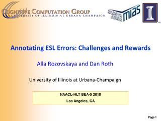 Annotating ESL Errors: Challenges and Rewards