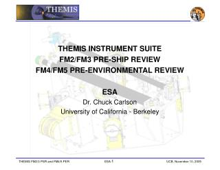 THEMIS INSTRUMENT SUITE  FM2/FM3 PRE-SHIP REVIEW  FM4/FM5 PRE-ENVIRONMENTAL REVIEW ESA