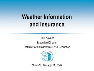 Weather Information  and Insurance