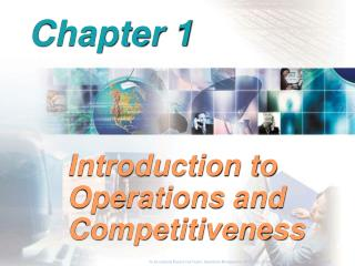 Introduction to Operations and Competitiveness