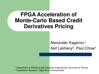 FPGA Acceleration of Monte-Carlo Based Credit Derivatives Pricing