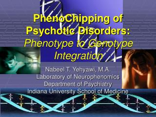PhenoChipping of Psychotic Disorders:  Phenotype to Genotype Integration