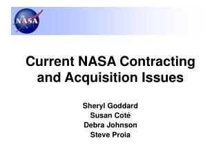Current NASA Contracting and Acquisition Issues