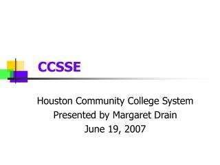 CCSSE