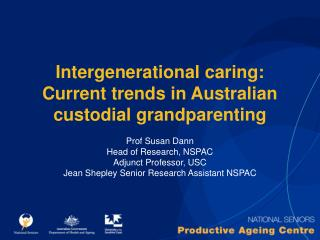 Intergenerational caring: Current trends in Australian custodial grandparenting
