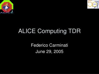 ALICE Computing TDR