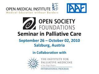 Seminar in Palliative Care