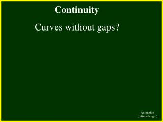 Continuity        Curves without gaps
