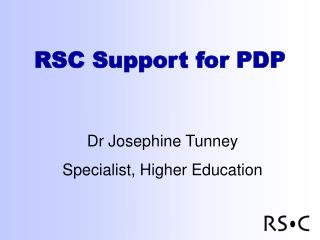 RSC Support for PDP