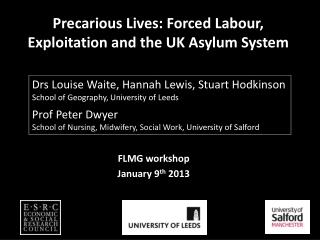 Precarious Lives: Forced Labour, Exploitation and the UK Asylum System