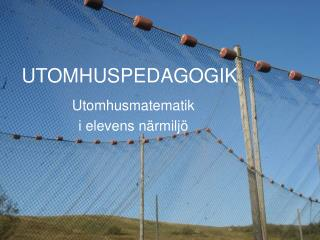 UTOMHUSPEDAGOGIK