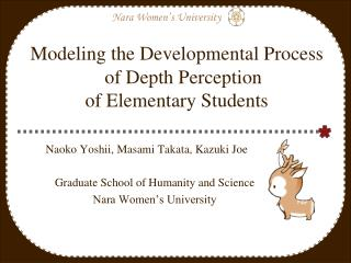 Modeling the Developmental Process of Depth Perception  of Elementary Students
