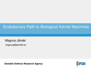 Evolutionary Path to Biological Kernel Machines