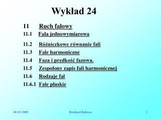 Wykład 24