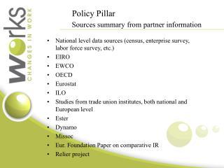 Policy Pillar