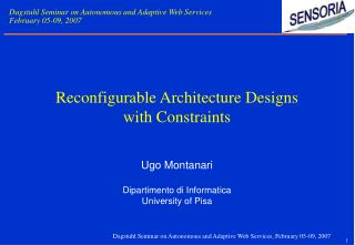 Reconfigurable Architecture Designs  with Constraints