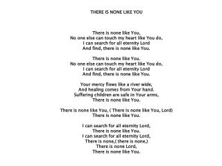 My Redeemer Lives lyrics
