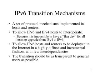 IPv6 Transition Mechanisms