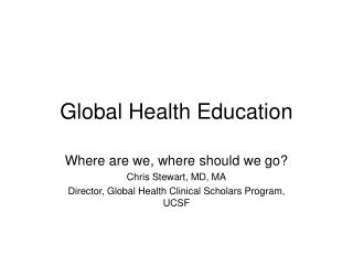 Global Health Education