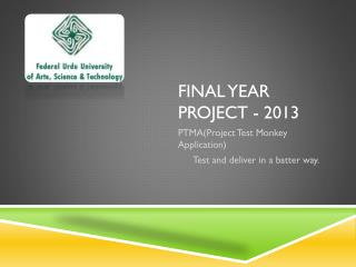 Final Year project - 2013