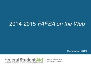 2014-2015  FAFSA on the Web