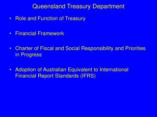 Queensland Treasury Department