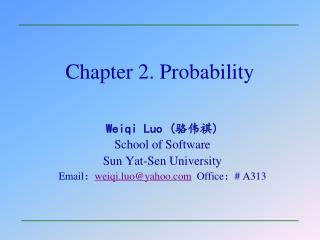 Chapter 2. Probability