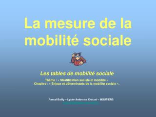 La mesure de la mobilité sociale