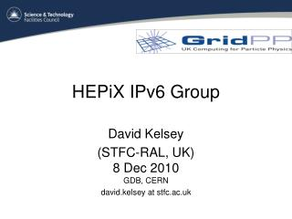 HEPiX IPv6 Group