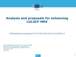 Analysis and proposals for enhancing  LULUCF MRV