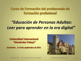 """""""Educación de Personas Adultas: Leer para aprender en la era digital"""""""