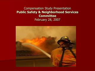 Compensation Study Presentation  Public Safety & Neighborhood Services Committee February 28, 2007
