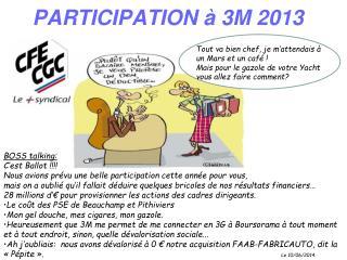 PARTICIPATION à 3M 2013