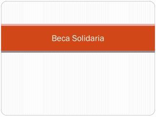 Beca Solidaria