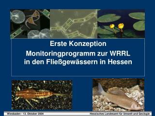 Erste Konzeption Monitoringprogramm zur WRRL in den Fließgewässern in Hessen