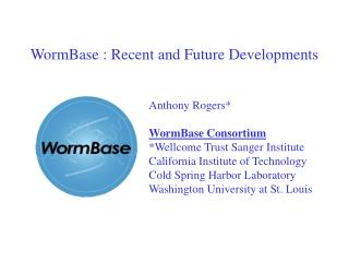 WormBase : Recent and Future Developments