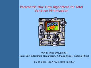 Parametric Max-Flow Algorithms for Total Variation Minimization