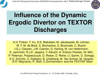 Influence of the Dynamic Ergodic Divertor on TEXTOR Discharges