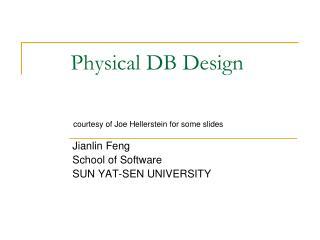 Physical DB Design
