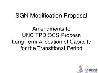 Aim of Modification Proposal
