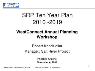 SRP Ten Year Plan 2010 -2019