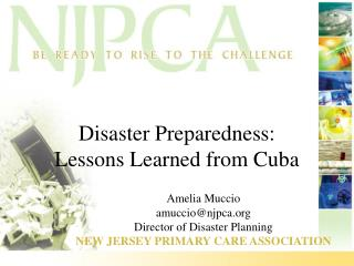 Disaster Preparedness: Lessons Learned from Cuba