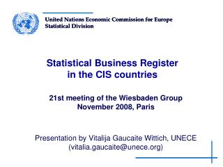 Statistical Business Register  in the CIS countries