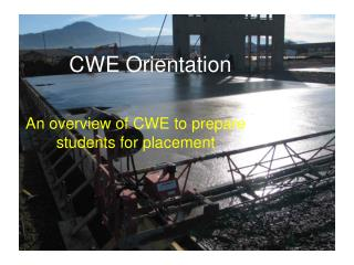 CWE Orientation