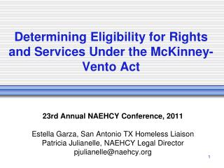Determining Eligibility for Rights and Services Under the McKinney-Vento Act
