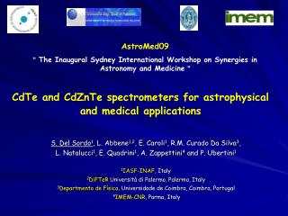 CdTe and CdZnTe spectrometers for astrophysical and medical applications