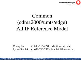 Common (cdma2000/umts/edge) All IP Reference Model