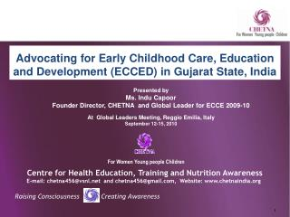 Advocating for Early Childhood Care, Education and Development (ECCED) in Gujarat State, India