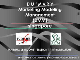 D U ' M A R Y Marketing Modeling Management  (DMM) singapore
