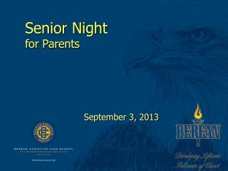 Senior Night for Parents